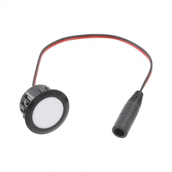 LMT Black Flush Deck Light - 1600B