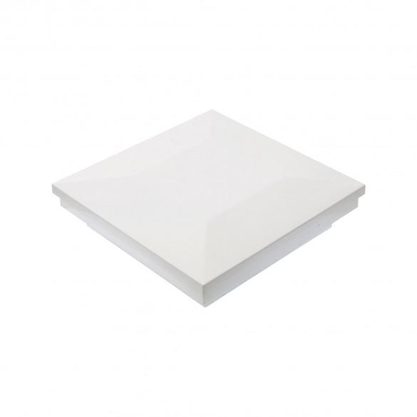 "3"" Sq. Ornamental Downward Low Voltage LED Lighted Post Cap - 1746W-3K - White"
