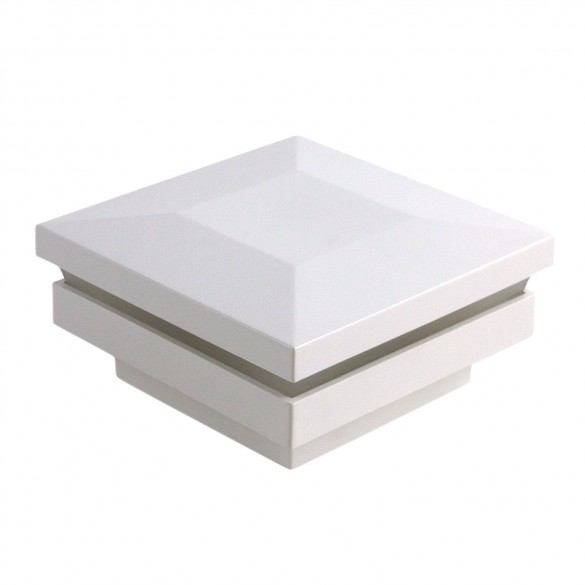 "2"" Sq. Ornamental Low Voltage Post Cap - 1748W - White"