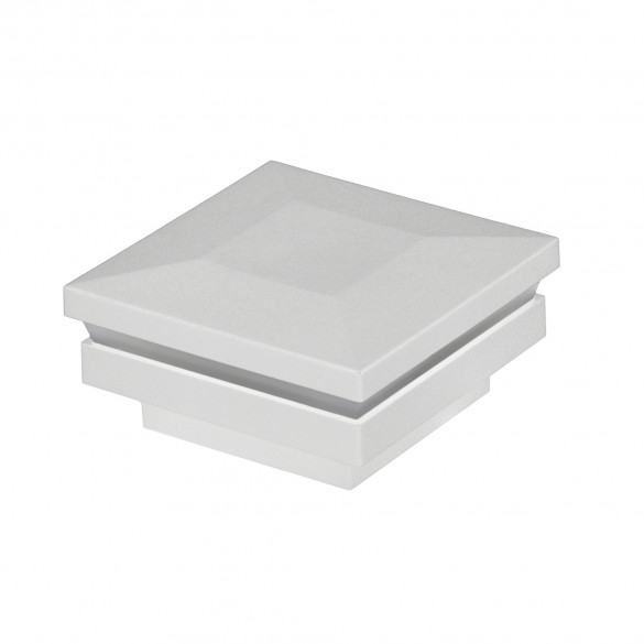 """5 1/2"""" Sq. Ornamental Low Voltage Post Cap For AZEK/TimberTech® Post Sleeves - LMT 1803 (Low Gloss White)"""