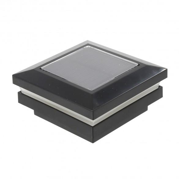 """2.5"""" Sq. Ornamental Solar Post Cap - 1820BLK - Black"""