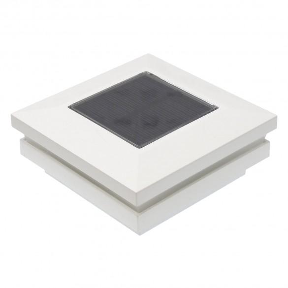 "3"" Sq. Ornamental Solar Post Cap - 1821W - White"