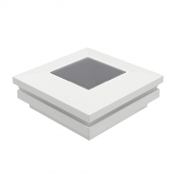 "3.5"" Sq. Ornamental Solar Post Cap - 1822W - White"