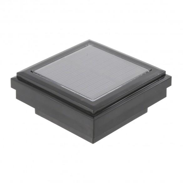 Ornamental Downward Solar LED Lighted Vinyl Post Cap (Black Shown)