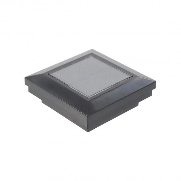 "2.5"" Sq. Ornamental Downward Solar Lighted Post Cap - 1824BLK - Black"