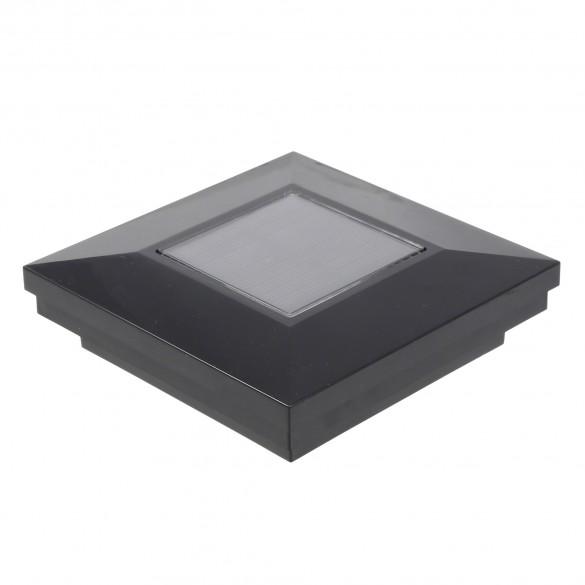 "3.5"" Sq. Ornamental Downward Solar Lighted Post Cap - 1826BLK - Black"