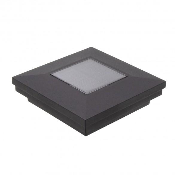 "3.5"" Sq. Ornamental Downward Solar Lighted Post Cap - 1826TB - Textured Black"