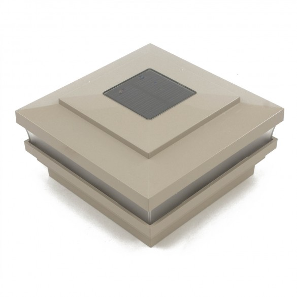 6X6 Cape May Solar Post Cap - Khaki