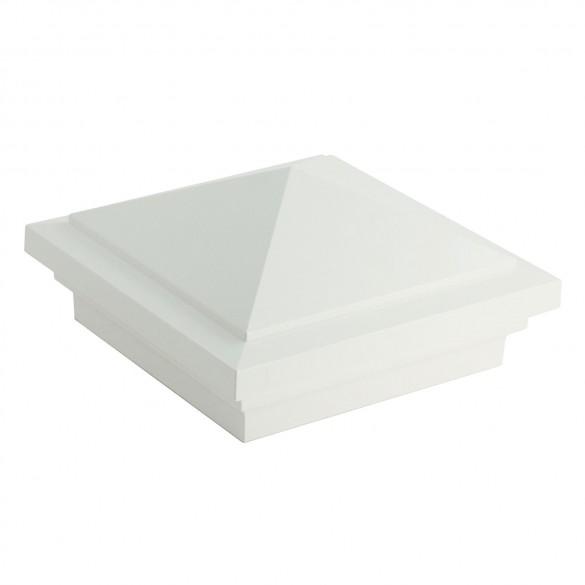 "4.5"" sq Haven Vinyl Post Cap - White - LMT-1568W"