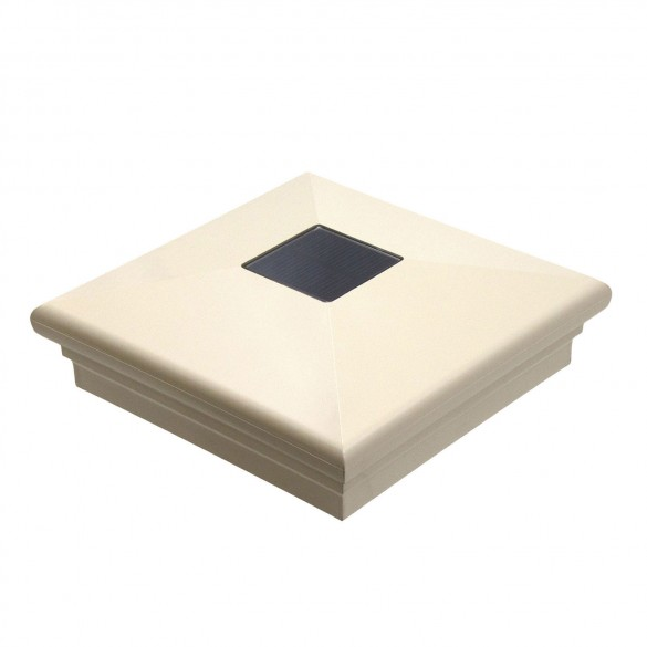 "5"" Sq. Neptune Downward Solar Post Cap - Beige LMT-1642KT"