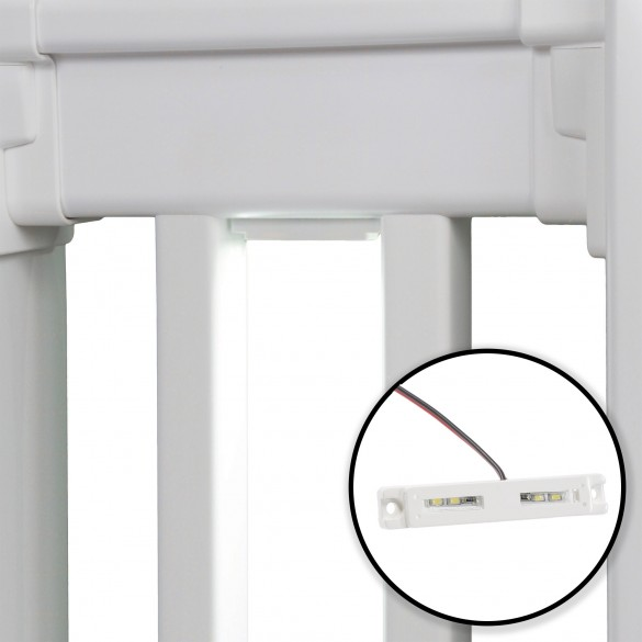 """LMT-1649 3"""" Low Voltage LED Under Rail Light (White Installation Shown As Example)"""
