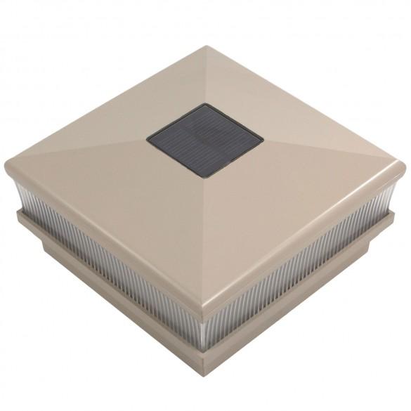 "5"" Sq. Neptune Scallop Lens Solar Post Cap - Khaki LMT-1668KK"