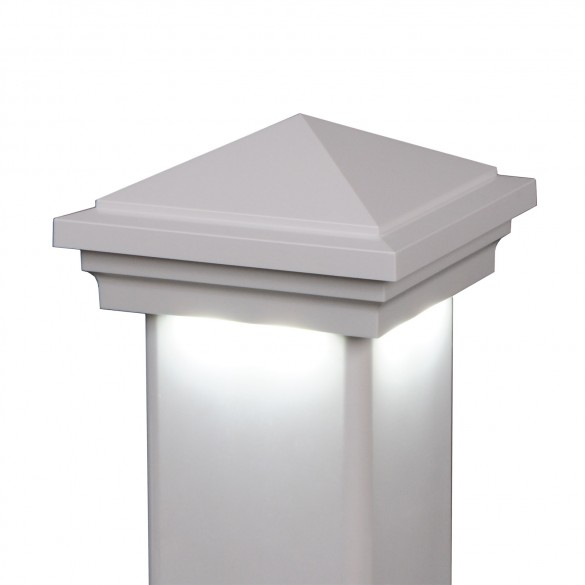 Haven Downward Low Voltage Lighted Post Cap by LMT
