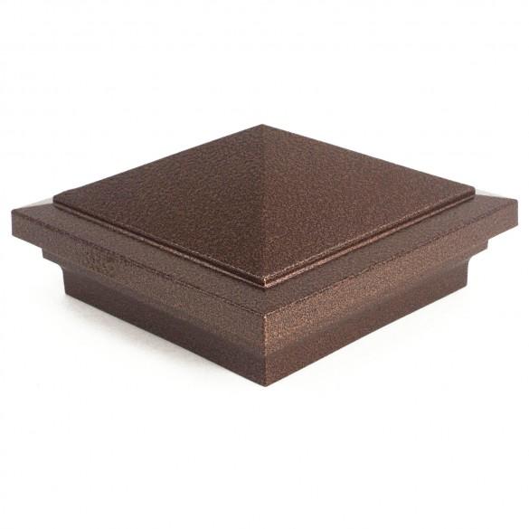 "3.625"" Haven Post Cap - Antique Copper"
