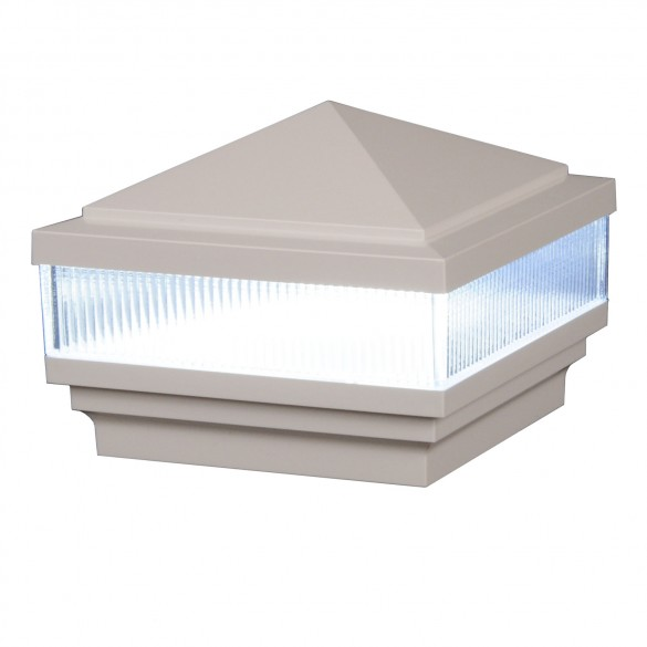 Haven Scallop Lens Low Voltage Lighted Post Cap by LMT