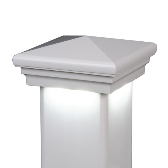 Neptune Downward Low Voltage Lighted Post Cap by LMT