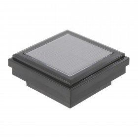Ornamental Downward Solar LED Lighted Vinyl Post Cap