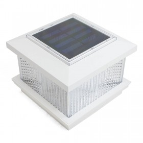LMT Galaxy Solar LED Lighted Vinyl Post Cap