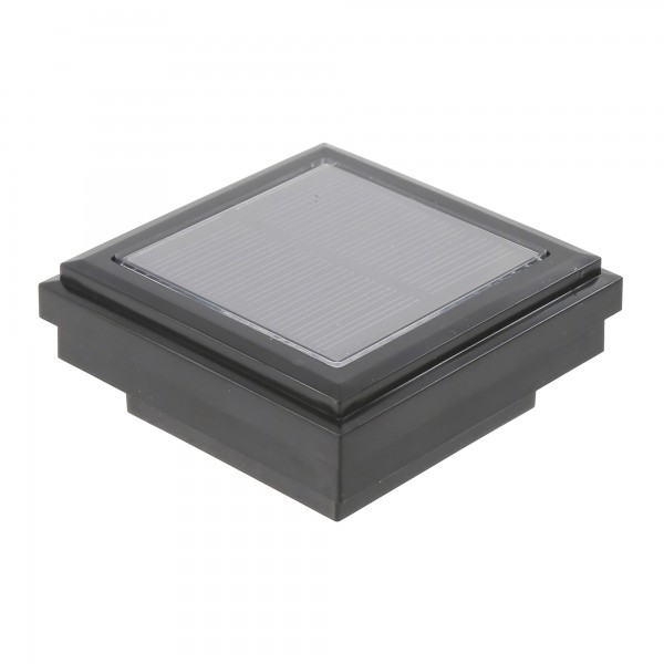Ornamental Downward Solar LED Lighted Vinyl Post Cap (Black Shown)