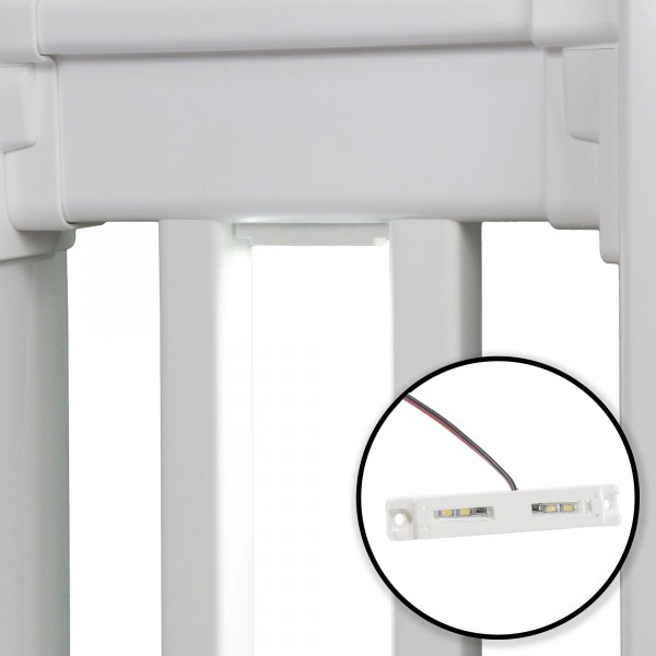 """3"""" Low Voltage LED Under Rail Light - LMT 1649 (White Installation Shown As Example)"""