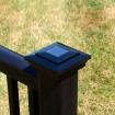 "4"" Sq. Cape May Downward Solar Post Cap - Hammertone Black LMT-1639HB Shown On Post"
