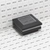 "LMT 1820TB 2.5"" Sq. Ornamental Solar LED Lighted Vinyl Post Cap - Textured Black (Grid Shown For Scale)"