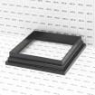 LMT-1495HB 6X6 Post Skirt - Hammertone Black (Grid Shown For Scale)