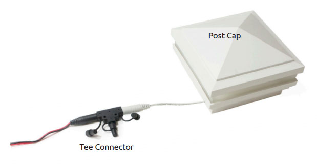 Tee Connector to Post Cap
